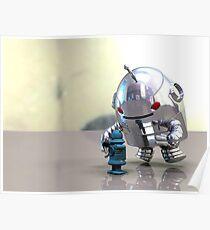 Jo Bot VS Little Blue Bot Poster