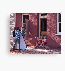 Photo Shoot for Little Girls Canvas Print