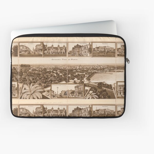 Western Australia general view of Perth from the State Library of Western Australia Laptop Sleeve