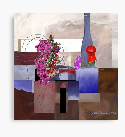 """Celebration"" - First prize for flower arranging. Canvas Print"
