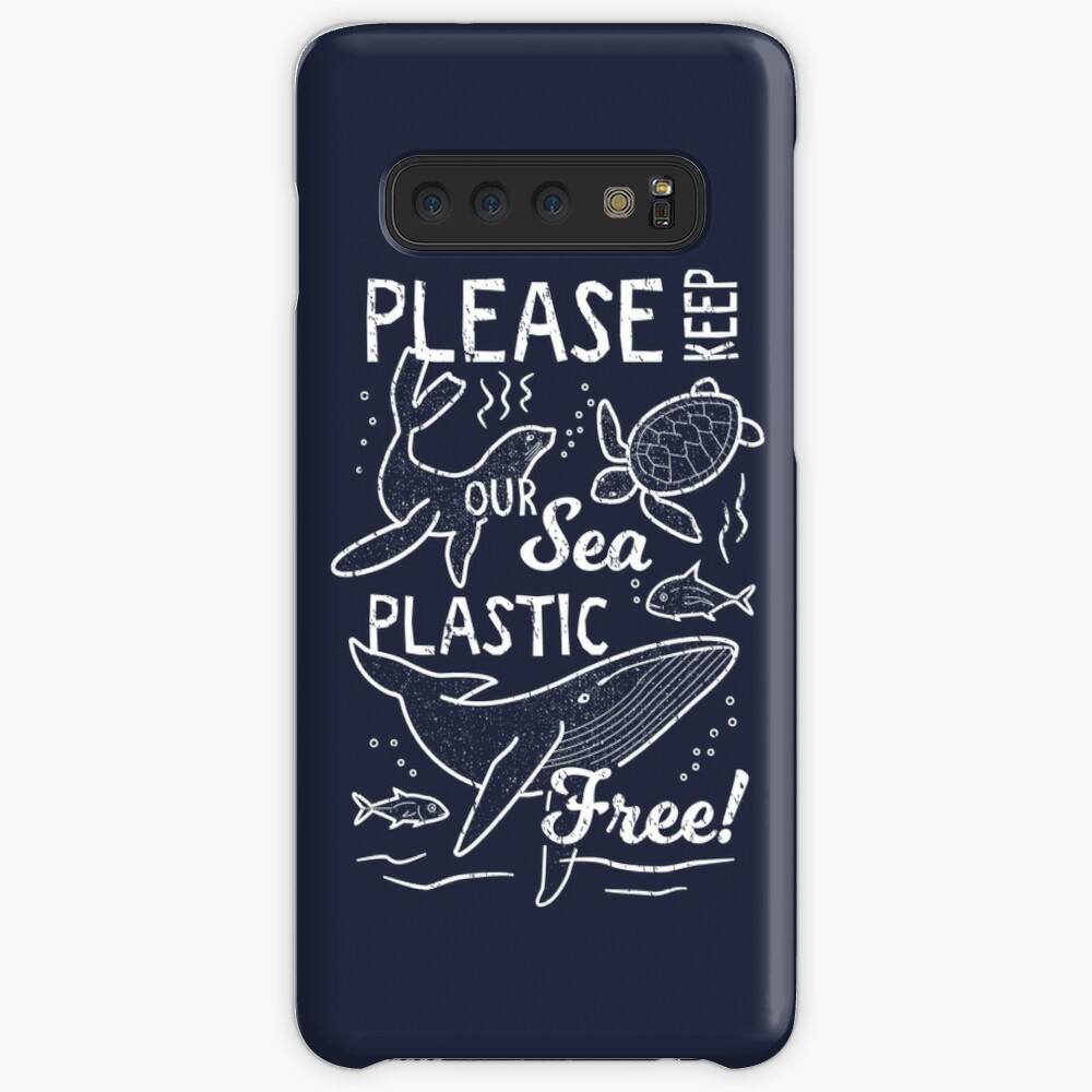 Please Keep Our Sea Plastic Free - Marine Animals Case & Skin for Samsung Galaxy