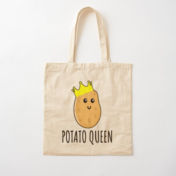 Potato Queen - Funny Potato gift Cotton Tote Bag