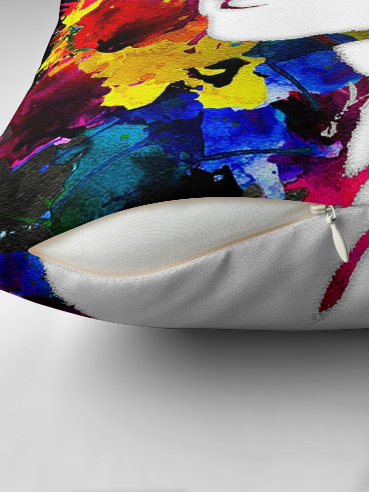 Alternate view of Canvas M Throw Pillow