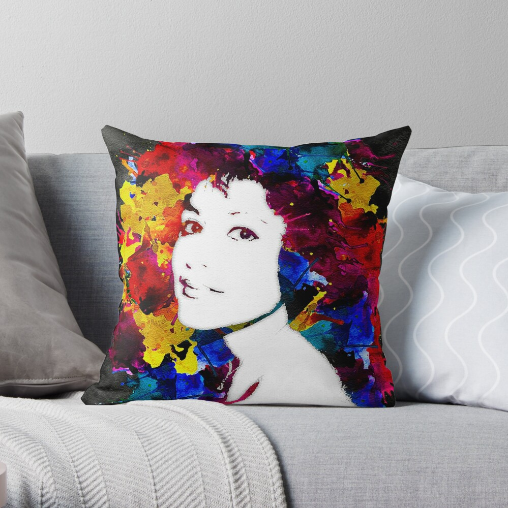 Canvas M Throw Pillow