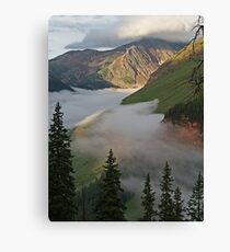 Between Fog and Clouds: Clear Lake, CO Canvas Print