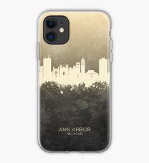 Ann Arbor Michigan Skyline iPhone Case