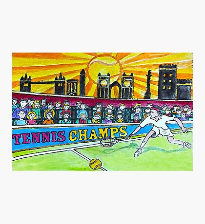 Tennis Champs Photographic Print