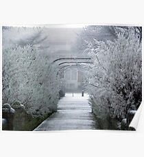 Walkway into Winter Poster