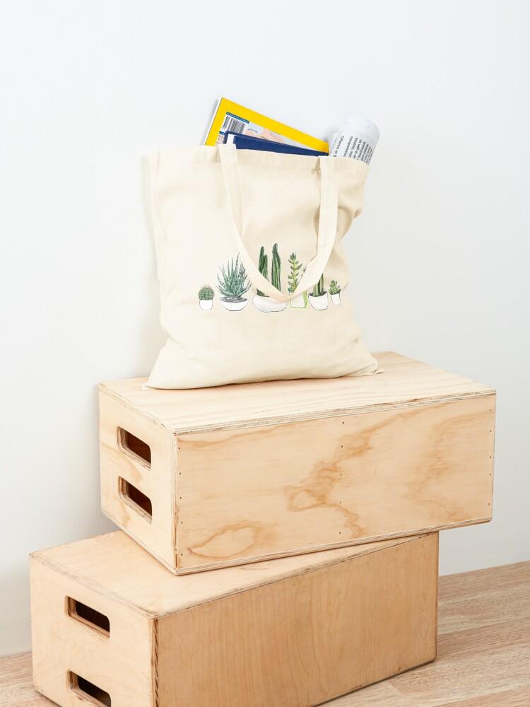 Alternate view of Watercolour cacti & succulents Tote Bag