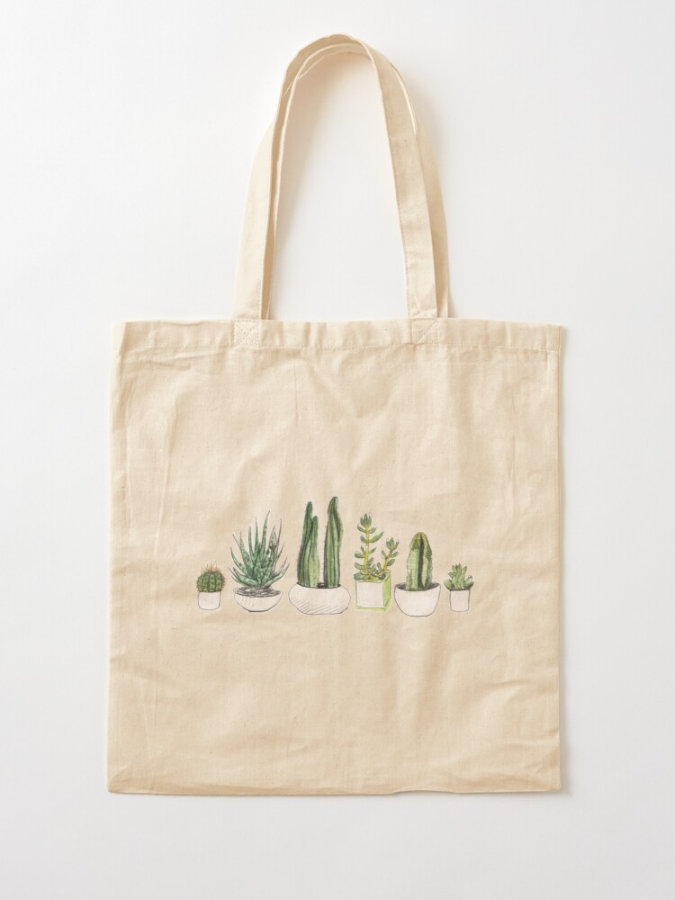 Alternate view of Watercolour cacti & succulents Tote Bag