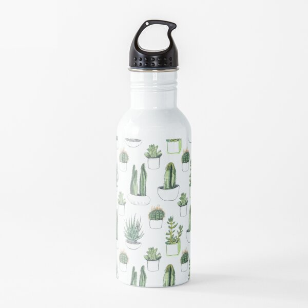 Watercolour cacti & succulents Water Bottle