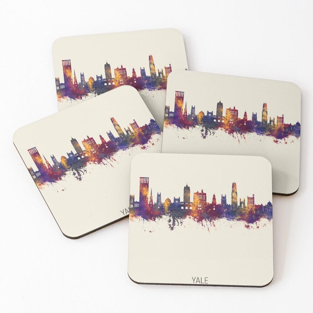 Yale Connecticut Skyline Coasters (Set of 4)