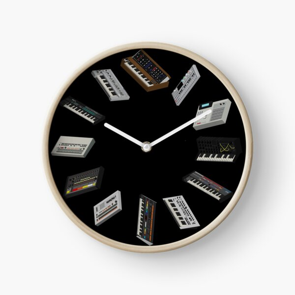 Synthesizer Fan Collection Clock