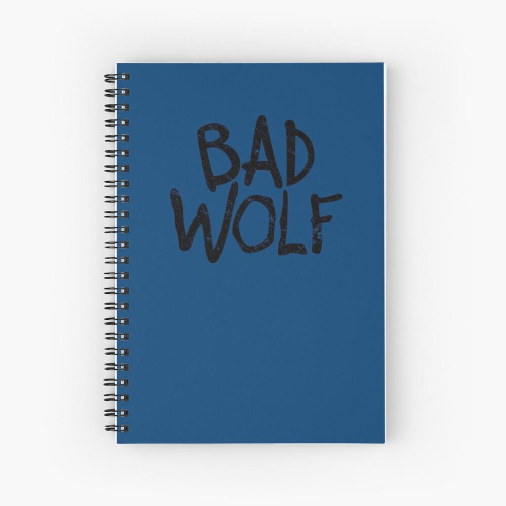 Bad Wolf Spiral Notebook