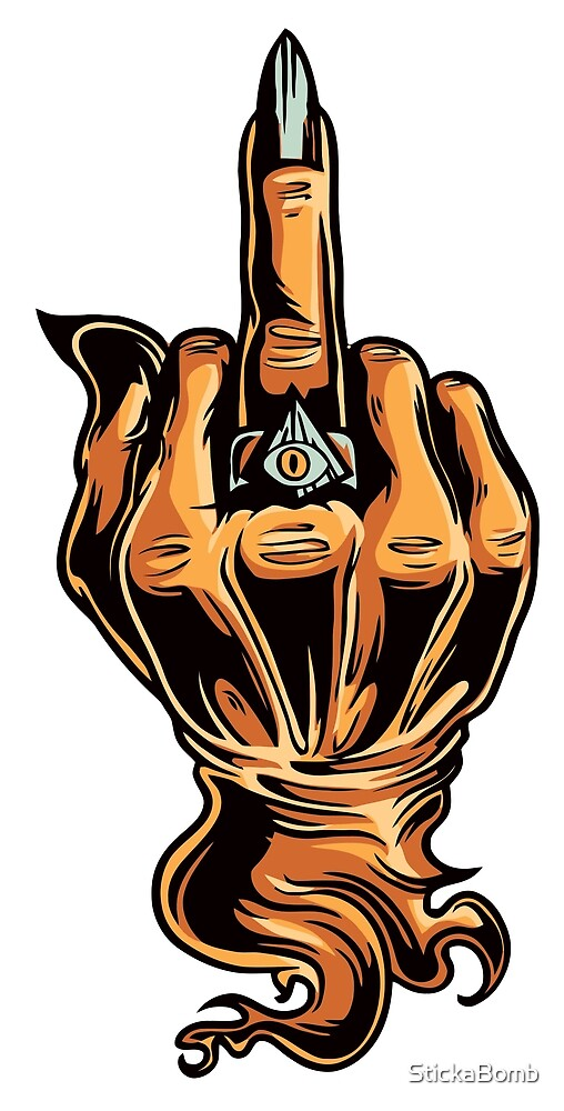 Oziri Middle Finger by StickaBomb