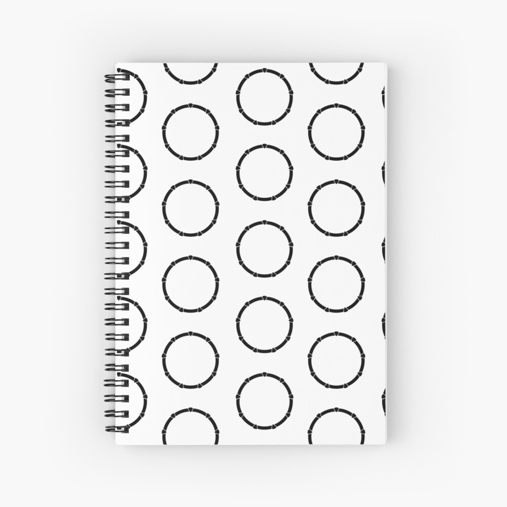 Rings Pattern Design Spiral Notebook