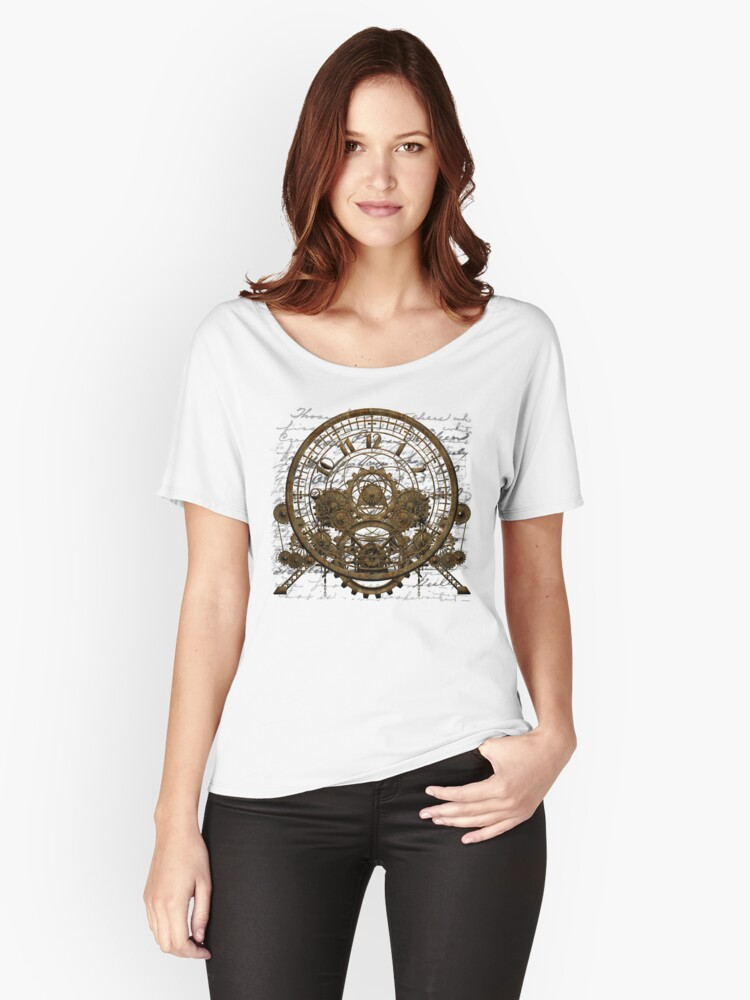 Vintage Steampunk Time Machine #1A Women's Relaxed Fit T-Shirt Front
