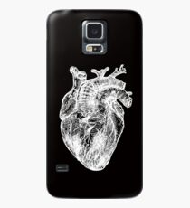 My White Heart Case/Skin for Samsung Galaxy