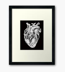 My White Heart Framed Print