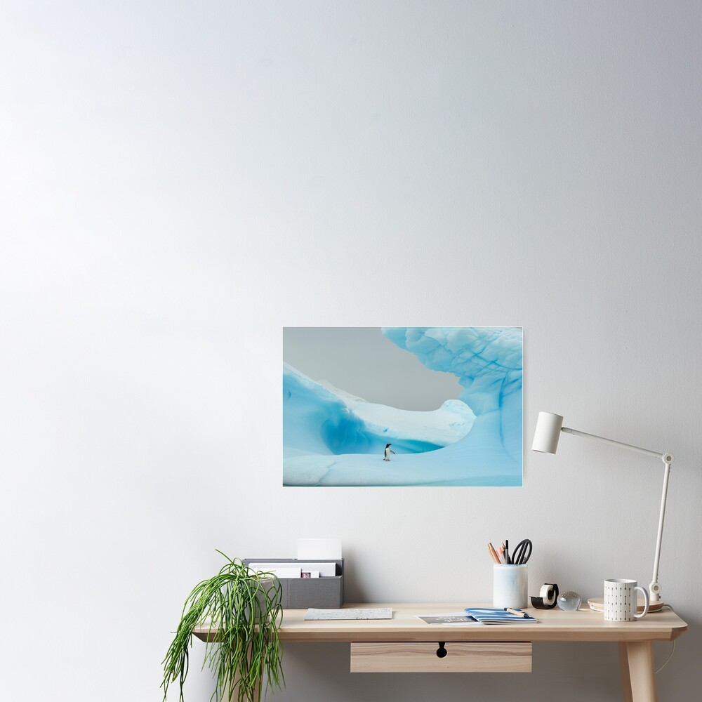 All alone in the ice Poster