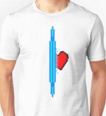 Heart through blue portal (version 1) T-Shirt