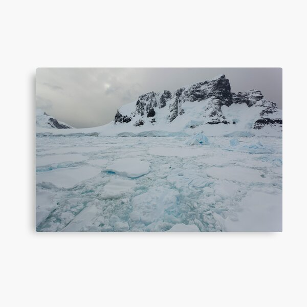 Mountains and ice Canvas Print