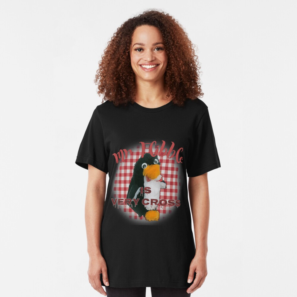 Mr Flibble is very cross Slim Fit T-Shirt