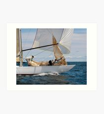 On the foredeck of Iskereen Art Print