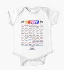Schedule Nascar Cup Series 2020 white Short Sleeve Baby One-Piece