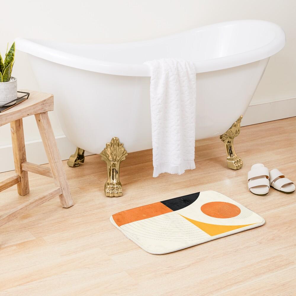 Mid Century Modern Retro  Bath Mat