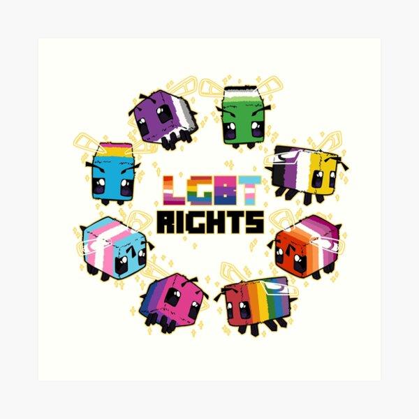 LGBT Minecraft Bees Art Print