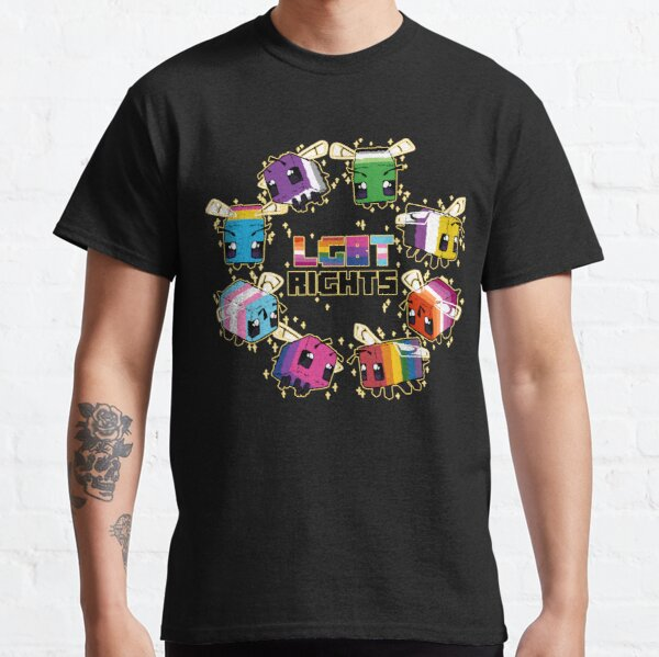 LGBT Minecraft Bees Classic T-Shirt