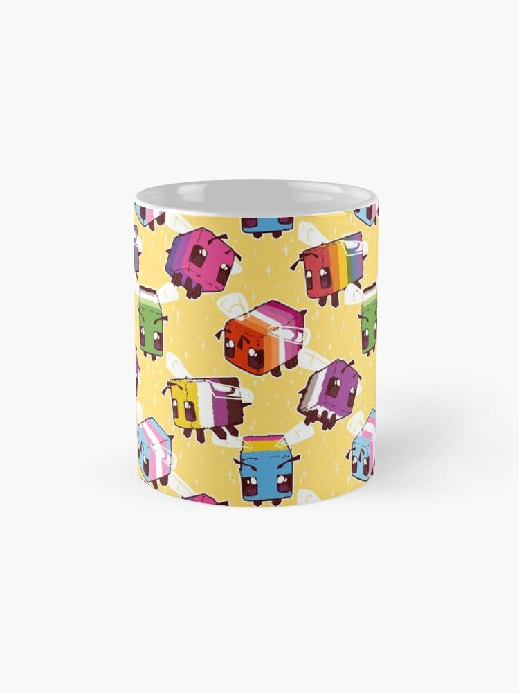 Alternate view of LGBT Minecraft Bees Mug