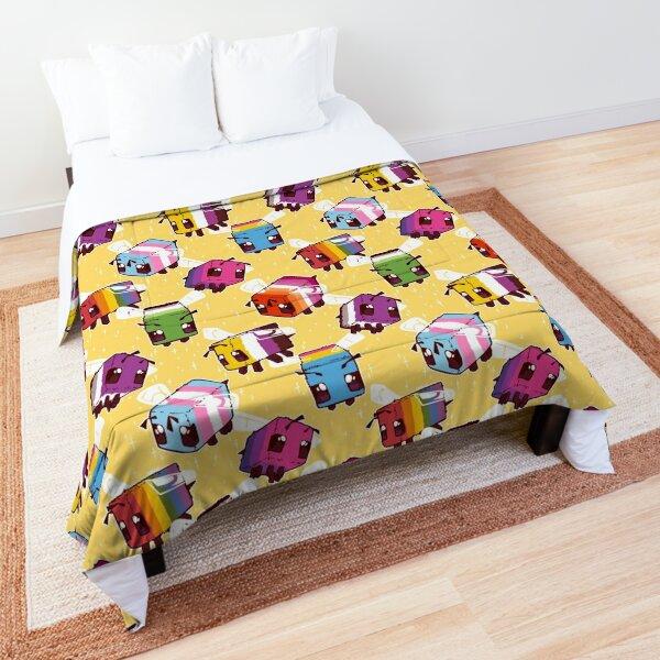 LGBT Minecraft Bees Comforter