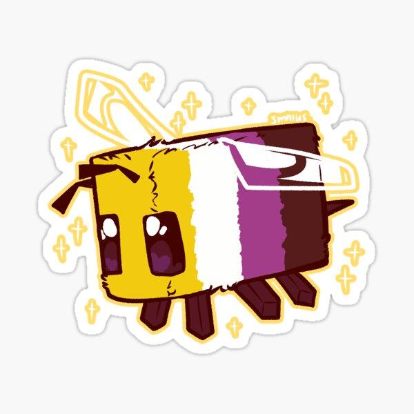 Non-Binary Pride Minecraft Bee Sticker