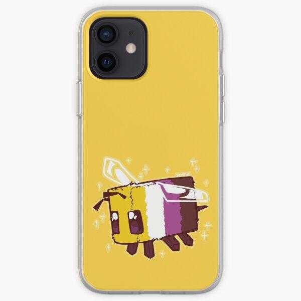Abeille Minecraft Fierté non binaire Coque souple iPhone
