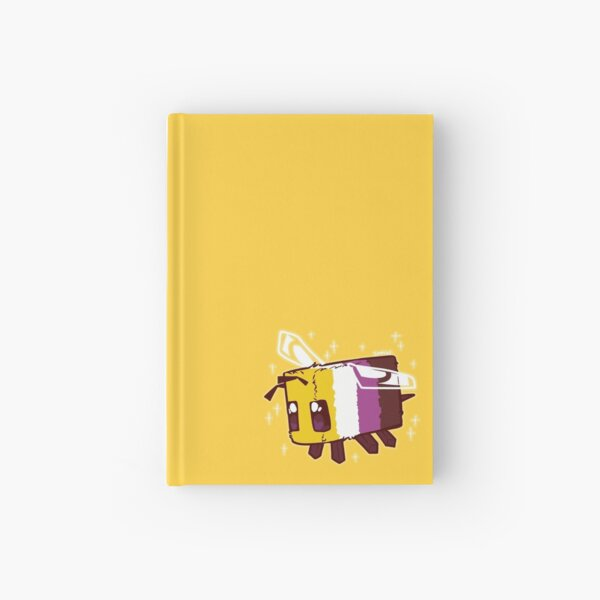 Non-Binary Pride Minecraft Bee Hardcover Journal