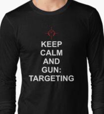 Keep Calm and Gun: Targetting [Matrix] Long Sleeve T-Shirt