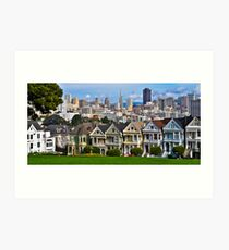Iconic San Francisco with Painted Ladies Art Print
