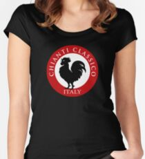 Black Rooster Italy Chianti Classico  Women's Fitted Scoop T-Shirt