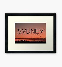 Sydney Framed Print