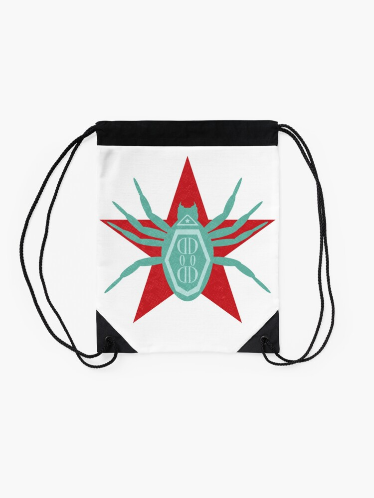 Alternate view of All Hale the Defender of Democracy Drawstring Bag