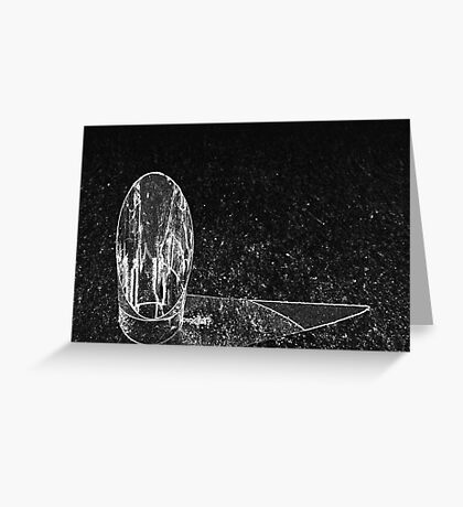 Prism in black and white Greeting Card