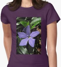 Periwinkle (Vinca Minor) Womens Fitted T-Shirt