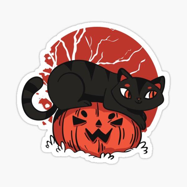 Black Cat Halloween Sticker