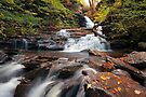 Huron Falls Is Rejuvinated In October by Gene Walls