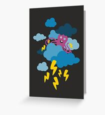 Who Makes the Thunder? - Night  Greeting Card