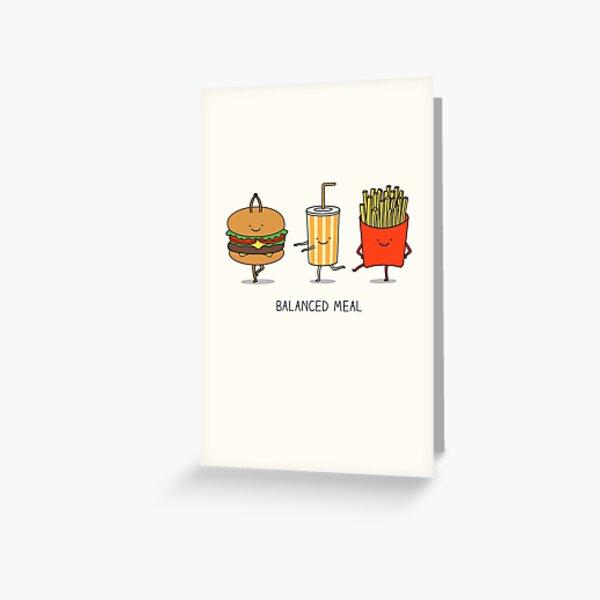 Balanced meal Greeting Card