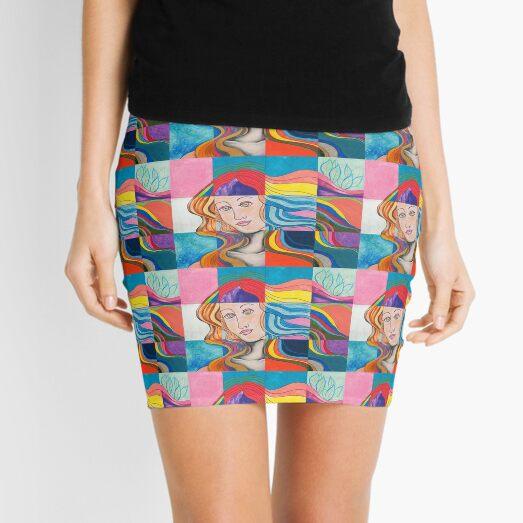 Modern Venus Botticelli Inspired Pop Art Mixed Media Mini Skirt