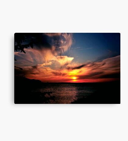 A CHRISTMAS SUNSET Canvas Print